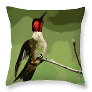 Out On A Limb - Green Throw Pillow