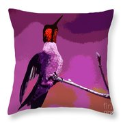 Out On A Limb - Pink Throw Pillow
