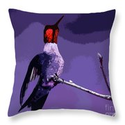 Out On A Limb - Purple Throw Pillow
