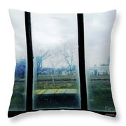 Out The Back Window Of The Delta Blues Museum Clarksdale Ms Throw Pillow