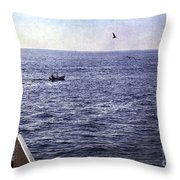 Out To Sea Throw Pillow by Madeline Ellis