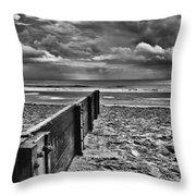 Out To Sea Monochrome Throw Pillow
