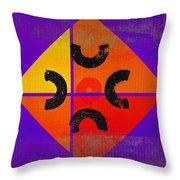 Outback De Stijl Throw Pillow