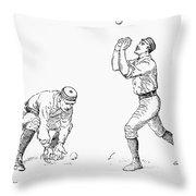 Outfielder, 1889 Throw Pillow