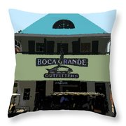 Outfitters Boca Grande Style Throw Pillow