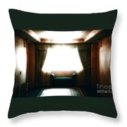Outside The Elevators Throw Pillow