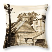 Outside The Mercer Museum Throw Pillow