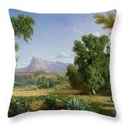 Outskirts Of Valdemusa Throw Pillow