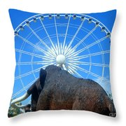 Over Mammoth Proportion  Throw Pillow