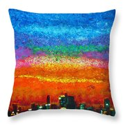 Over The Bay 17 45 Throw Pillow