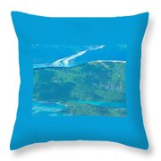 Over The Bend Throw Pillow