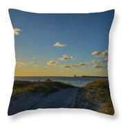 Over The Dune Throw Pillow