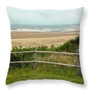 Over The Fence Ocean View Throw Pillow