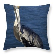 Over The Shoulder Pose Throw Pillow