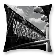 Over The Thames Throw Pillow