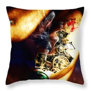 Over Worked Throw Pillow