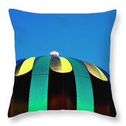 Overdone Blue Throw Pillow