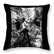 Overgrown Windpump Throw Pillow