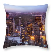 Overlooking Central Park Throw Pillow