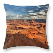Overlooking Dead Horse Point Throw Pillow