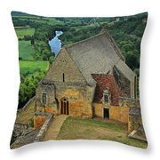 Overlooking The French Countryside Throw Pillow