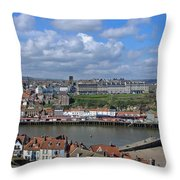 Overlooking Whitby Throw Pillow