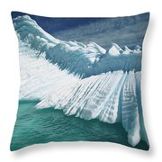Overturned Iceberg With Eroded Edges Throw Pillow