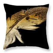 Owl Feather With Water Throw Pillow