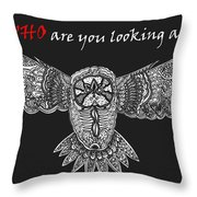Owl In Flight Throw Pillow