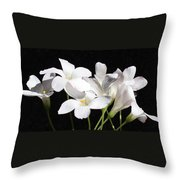 Oxalis Flowers 2 Throw Pillow