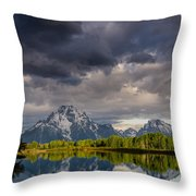 Oxbow Light And Clouds Throw Pillow