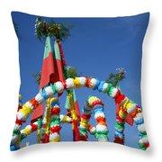 Oxen Cart Decorations Throw Pillow
