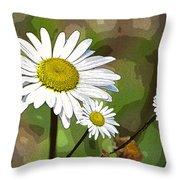 Oxeye Daisy Throw Pillow