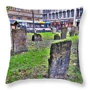 Oxford England Graveyard Throw Pillow