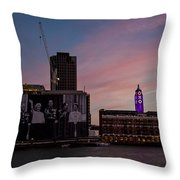 Oxo Tower And Royal Family Throw Pillow