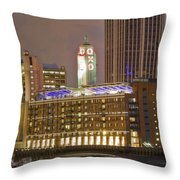 Oxo Tower Night   Throw Pillow