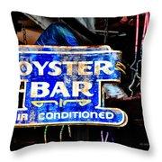 Oyster Bar Sign Throw Pillow