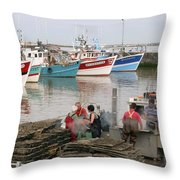 Oyster Harvest Throw Pillow