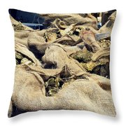 Oysters Galore Throw Pillow
