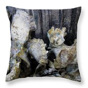 Oysters On Piling Throw Pillow