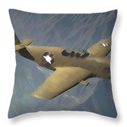 P 51 Mustang On A Mission Throw Pillow