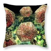 P22 Bacteriophages Throw Pillow
