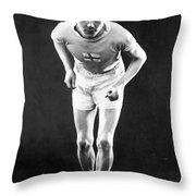 Paavo Nurmi (1897-1973) Throw Pillow