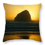 Pacific City Sunset Throw Pillow