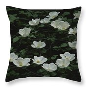 Pacific Dogwood Blossoms Throw Pillow