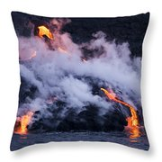 Pacific Lava Flow II Throw Pillow