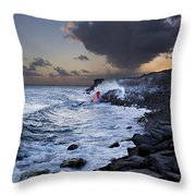 Pacific Lava Flow Iv Throw Pillow