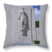 Pacific Theater Memorial - Hawaii Throw Pillow