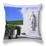 Pacific Theater War Memorial - Honolulu Throw Pillow
