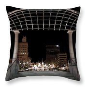 Pack Square Park Asheville Throw Pillow